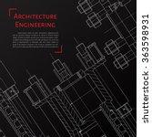 vector technical blueprint of ... | Shutterstock .eps vector #363598931