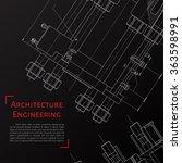 vector technical blueprint of ... | Shutterstock .eps vector #363598991