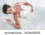a beautiful girl  is in a... | Shutterstock . vector #363600035