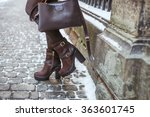 stylish young fashionable... | Shutterstock . vector #363601745