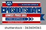 presidents day sale web banner. ... | Shutterstock .eps vector #363604361