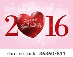 happy valentine's day lettering ... | Shutterstock .eps vector #363607811