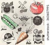 bon appetit  enjoy your meal ... | Shutterstock .eps vector #363607991