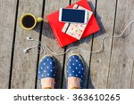 time to work study. lifestyle ... | Shutterstock . vector #363610265