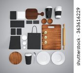 mockup of food and kitchen. 3d   Shutterstock . vector #363616229