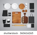 mockup of food and kitchen. 3d | Shutterstock . vector #363616265