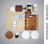 mockup of food and kitchen. 3d | Shutterstock . vector #363616301