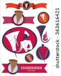 abstract shawarma art... | Shutterstock .eps vector #363616421