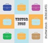 briefcase icon  vector... | Shutterstock .eps vector #363616451