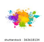 colored spray paint with a... | Shutterstock .eps vector #363618134