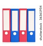 colorful file folders on white... | Shutterstock . vector #36361954