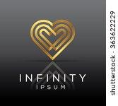 elegant minimal heart symbol.... | Shutterstock .eps vector #363622229