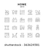 house related icons set 3  home ... | Shutterstock .eps vector #363624581