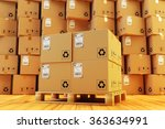 distribution warehouse  package ... | Shutterstock . vector #363634991