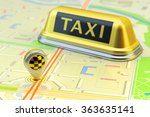 ordering a taxi cab online... | Shutterstock . vector #363635141
