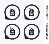 sale price tag icons. discount... | Shutterstock . vector #363640337
