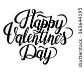 happy valentine's day text.... | Shutterstock .eps vector #363644195