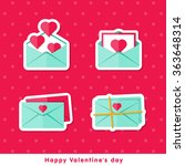 happy valentine day. icons of... | Shutterstock .eps vector #363648314