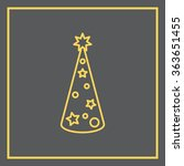 christmas tree vector line icon. | Shutterstock .eps vector #363651455