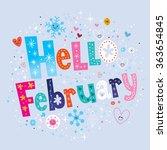 hello february | Shutterstock .eps vector #363654845