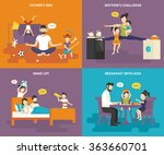family with children people... | Shutterstock .eps vector #363660701