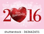 happy valentine's day lettering ... | Shutterstock .eps vector #363662651