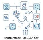 customer relationship... | Shutterstock .eps vector #363664529