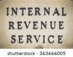 irs building sign with...   Shutterstock . vector #363666005