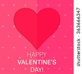 love red heart template. happy... | Shutterstock .eps vector #363666347
