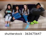 group of disengaged  bored... | Shutterstock . vector #363675647