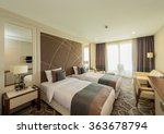 Stock photo hotel room with modern interior 363678794