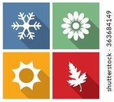 season icons vector... | Shutterstock .eps vector #363684149