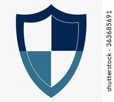 blue shield vector icon | Shutterstock .eps vector #363685691