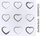 abstarct heart icon set .... | Shutterstock .eps vector #363694211