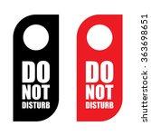 do not disturb sign set .... | Shutterstock .eps vector #363698651