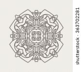 mandala. gothic lace tattoo.... | Shutterstock . vector #363702281