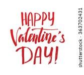 happy valentine's day  careless ... | Shutterstock .eps vector #363702431