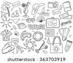 voyage design colorless set... | Shutterstock . vector #363703919