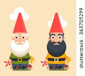 Cute Cartoon Garden Gnomes...