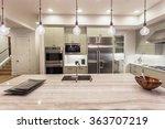 kitchen with island  sink ...   Shutterstock . vector #363707219