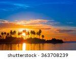 Beautiful Colorful Sunset At...