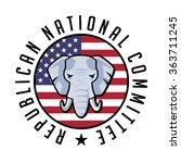 american  republican party... | Shutterstock .eps vector #363711245