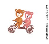 bears on bycicle | Shutterstock .eps vector #363713495