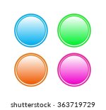 colorful buttons  set | Shutterstock .eps vector #363719729