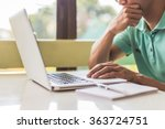 working on laptop  close up of... | Shutterstock . vector #363724751