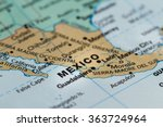 close up of the country of word ... | Shutterstock . vector #363724964