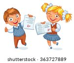 boys and girls showing perfect... | Shutterstock .eps vector #363727889