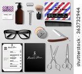 vector barbershop corporate...   Shutterstock .eps vector #363732944