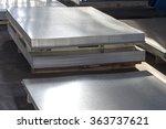 sheet tin metal in production... | Shutterstock . vector #363737621
