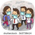 illustration of the residents... | Shutterstock .eps vector #363738614